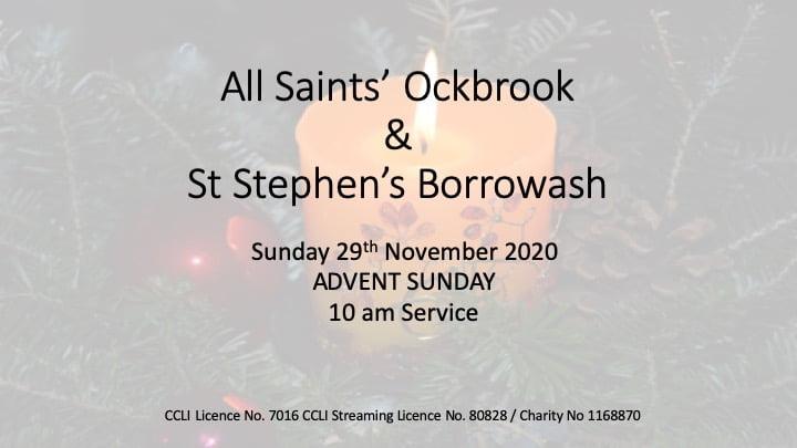29th November 2020 - Advent Sunday