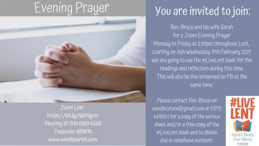 Lent Evening Prayer 2021