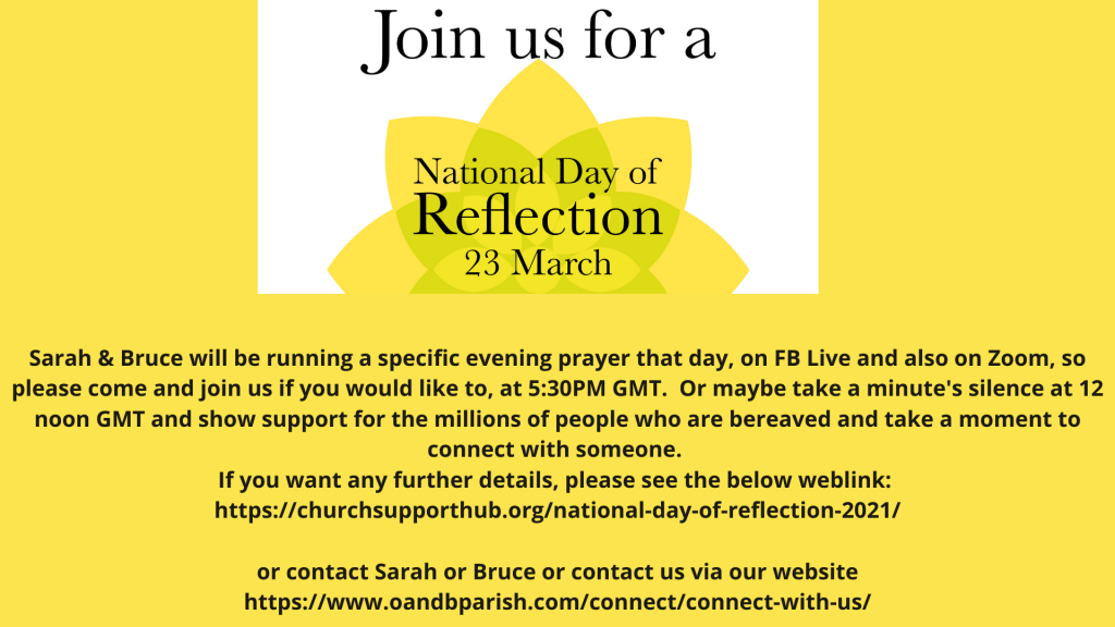 National Day of Reflection – 23rd March 2021