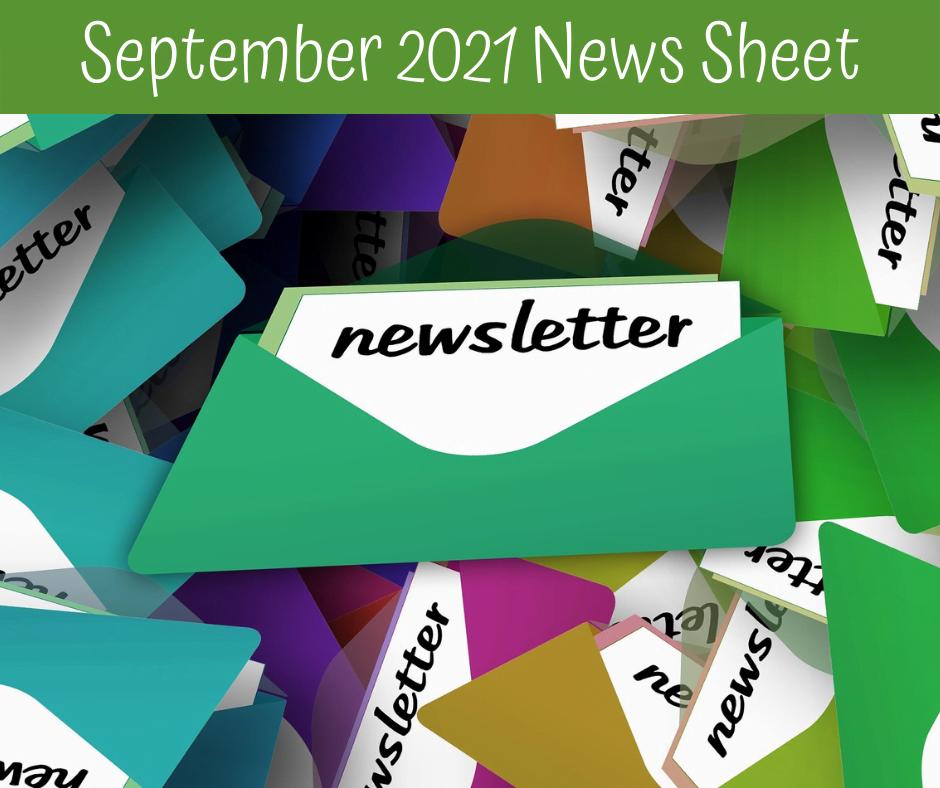 September 2021 Newsletter New Sheet Image